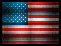 USA leds flag Royalty Free Stock Images