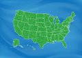 Usa map on blue background Royalty Free Stock Image