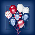 USA national holiday celebration vector design Royalty Free Stock Photo