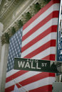 USA, New York, Wallstreet, Stock Exchange Royalty Free Stock Photography