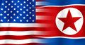 Usa-North Korea Flag Royalty Free Stock Photos