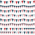 Usa party bunting Royalty Free Stock Photo