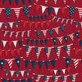 Usa party bunting Stock Photography