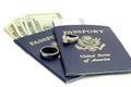 USA Passports Destination Wedding Royalty Free Stock Photo