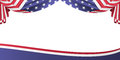 Usa patriotic flag banner vector illustration of background with bunting Stock Photography