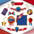 USA patriotic signs, labels, tags  and emblem Royalty Free Stock Photo
