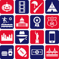 USA pictograms Royalty Free Stock Image