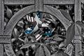 USA pinwheel on black and white Royalty Free Stock Photo
