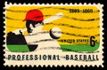 USA postage stamp professional baseball Stock Images