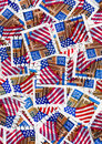 Usa postage stamps - flags Royalty Free Stock Photo