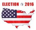USA 2016 Presidential Election Flag Royalty Free Stock Photo