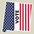 USA presidential election 2016 vote sticker.