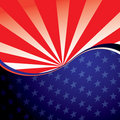 USA radiate background Royalty Free Stock Images
