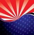 USA radiate background Royalty Free Stock Photo
