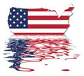 USA Reflection - US Flag Royalty Free Stock Photos