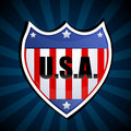 Usa shield Stock Images