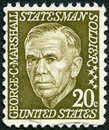 Usa shows george catlett marshall jr circa a stamp printed in circa Stock Photo