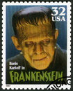 USA - 1997: shows portrait of William Henry Pratt Boris Karloff 1887-1969 as Frankenstein Monster, series Classic Movie Monsters Royalty Free Stock Photo