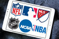 Usa sports logos and icons Royalty Free Stock Photo