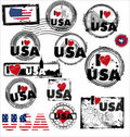 Usa stamp Royalty Free Stock Image