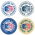 USA Stamp, made in USA Royalty Free Stock Photos