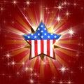 Usa star Royalty Free Stock Photo