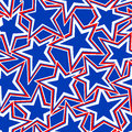 USA Star abstract illustration in a seamless pattern Royalty Free Stock Photo