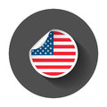 Usa sticker with flag.