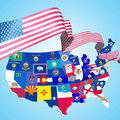 USA symbols Royalty Free Stock Photo