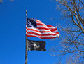 USA: US and POW/MIA flags Royalty Free Stock Photo