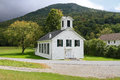 USA, Vermont: Old Wooden Church (1877) Royalty Free Stock Photo