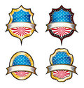 USA Vintage Emblems Stock Photo