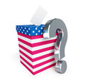 Usa vote question mark Royalty Free Stock Photo