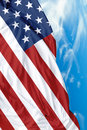 USA waving flag on a beautiful day Royalty Free Stock Photo