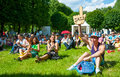 Usadba jazz festival moscow june people attend open air concert on x international in archangelskoye museum mansion on june Stock Photography