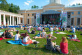 Usadba jazz festival moscow june people attend open air concert on x international in archangelskoye museum mansion on june Royalty Free Stock Image