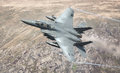Usaf american f jet united states air force e model strike eagle fighter on a low level mission Royalty Free Stock Photo