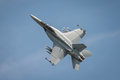 Usaf f f super hornet aircraft fairford uk july a displaying at the royal international air tattoo Royalty Free Stock Photography