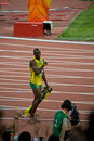 Usain Bolt's victory lap Stock Photos