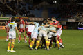USAP vs Biarritz - French Top 14 Rugby Royalty Free Stock Photography