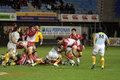 USAP vs Biarritz - French Top 14 Rugby Stock Photo