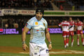 USAP vs Biarritz - French Top 14 Rugby Stock Image