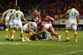 USAP vs Biarritz - French Top 14 Rugby Royalty Free Stock Image