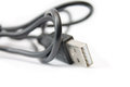 Usb cable close up photo with white background Royalty Free Stock Photography