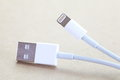 Usb cable plug close up Stock Images
