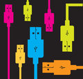 USB colors Stock Images