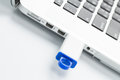 USB flash drive connect to computer Royalty Free Stock Photo