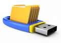 Usb flash drive with folders Royalty Free Stock Photography
