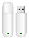 Usb flash drive set on a white background Royalty Free Stock Photography