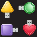 USB Flash Drive Shapes Royalty Free Stock Photo